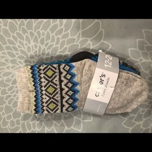 NWT 3 pairs Carters fair isle socks  12-24m